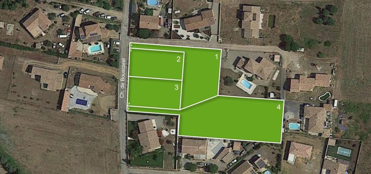 Terrain à vendre à Paraza - 4 lots ch. de Bouscarel